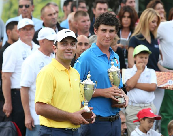 Paratore and compatriot Francesco Molinari in Turin last year. Picture: Claudio Scaccini/ www.golffile.ie
