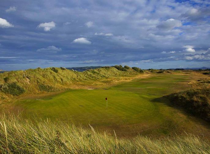 The 18th at Portmarnock Hotel and Golf Links. Picture via Portmarnock.com
