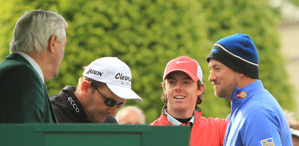 Rory McIlroy and Graeme McDowell at Wentworth last year. Picture Stuart Adams  www.golffile.ie