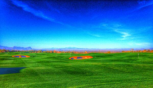The practice ground at Dove Mountain.