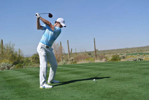 Rory McIlroy paid a high price for a few loose drives against Harris English. Picture: Fran Caffrey  www.golffile.ie