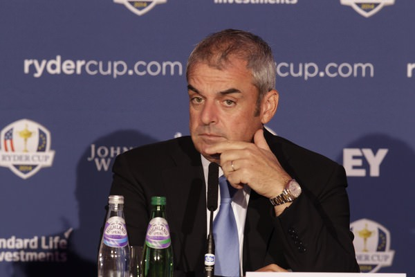 "Paul McGinley at the ""Year to Go""  press conference for the 2014 Ryder Cup at Gleneagles. Picture: Thos Caffrey /  www.golffile.ie"