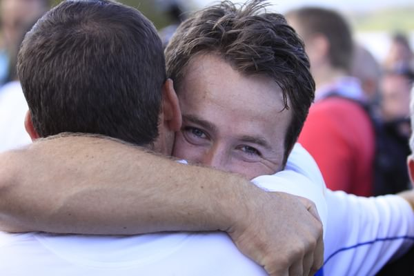 Graeme McDowell and Sergio Garcia embrace after the Ulsterman's Ryder Cup winning performance at Celtic Manor in 2010. Picture Manus O'Reilly/www.golffile.ie