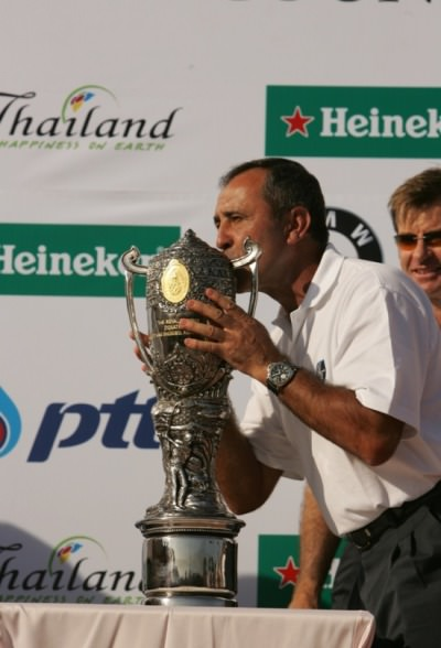 Seve Ballesteros at the inaugural Royal Trophy in 2006