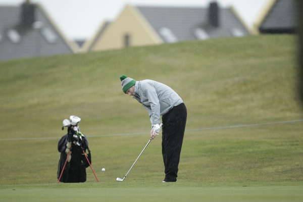 Dave Lowry in action at Seapoint. Picture Thos Caffreyhttp://golffile.ie
