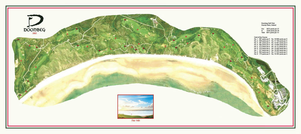 An overview of Doonbeg, now re-branded Trump Golf Links International, Ireland. (Click image to enlarge)