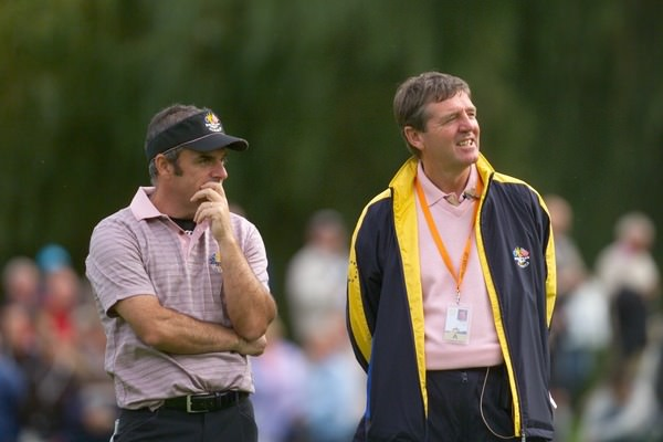 Paul McGinley and Des Smyth during the 2006 Ryder Cup at The K Club. Picture Eoin Clarke /  www.golffile.ie