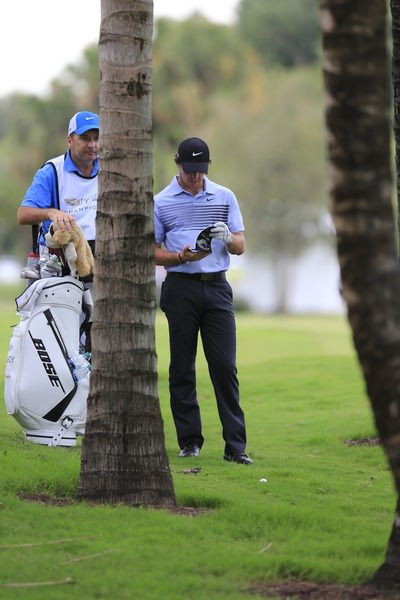 Rory McIlroy sizes up his options at Doral. Picture: Fran Caffrey  www.golffile.ie