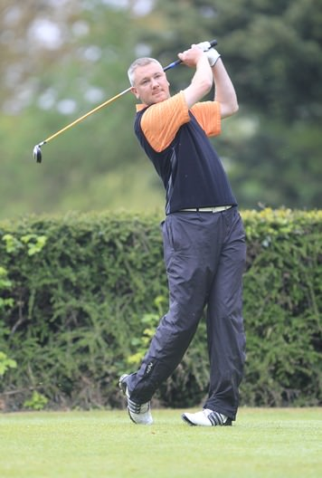 Dungarvan's Alan Thomas, pictured during the 2013 Mullingar Scratch Trophy, was in fine form at West Waterford. Picture: Thos Caffrey www.golffile.ie