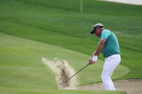 Darren Clarke, pictured in Abu Dhabi earlier this season, made a positive start in Tampa despite dropping three shot late in round for a level par 71. Picture: Eoin Clarke  www.golffile.ie