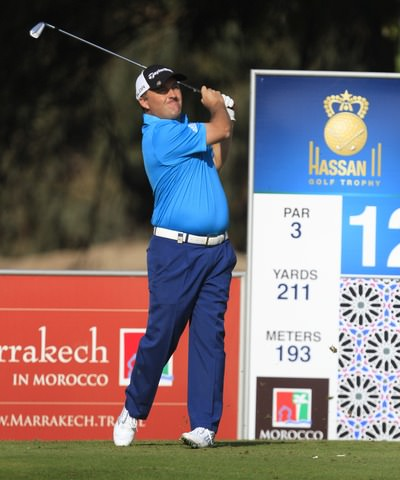 Damien McGrane in action in the second round in Morocco. Picture: Thos Caffrey / www.golffile.ie