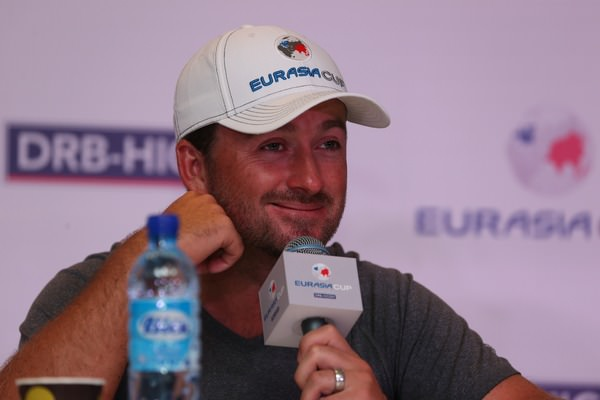 "Graeme McDowell shrugged off the Tiger Woods ""controversy"" by joking that he ""really shouldn't talk so much"" when asked about it at the EurAsia Cup presented by DRB-Hicom in Kuala Lumpur, Malaysia. Picture: David Lloyd /  www.golffile.ie"
