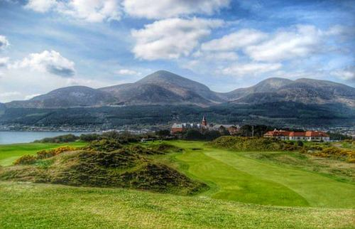The ninth fairway at Royal County Down.