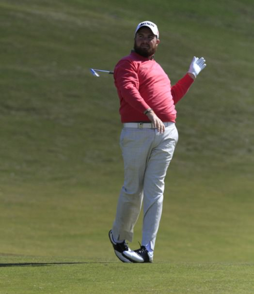 Shane Lowry lets go of the club at La Reserva. The Offaly man was out of sorts and made just one birdie in 36 holes. Picture: Thos Caffrey / www.golffile.ie