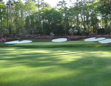 The 13th green at Augusta National. Picture © Brian Keogh