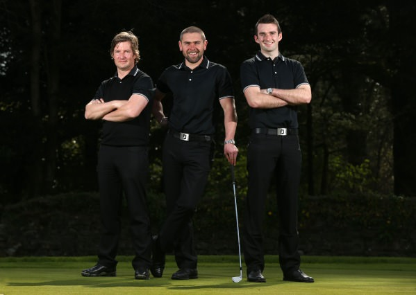 The new Better Golf team at the GUI National Golf Academy, from left, Noel Fox (Assistant Professional), Kenny Fahey (Head Professional), Ross Young (Assistant Professional)