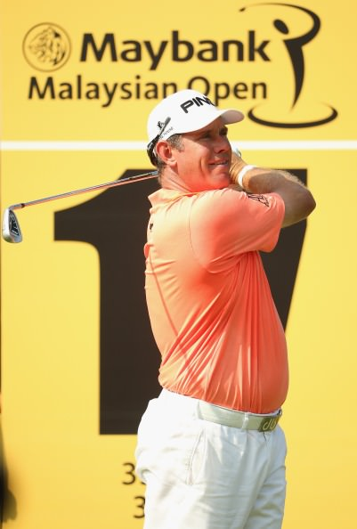Clubhouse leader Lee Westwood. Picture © Getty Images