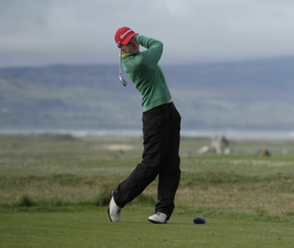 David Brady (Co. Sligo) during round one of The Radisson Blu sponsored West of Ireland Amateur Open at Co. Sligo Friday 18th April 2014. Picture: Thos Caffrey / www.golffile.ie
