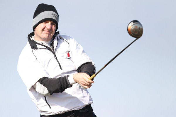 Driving ambition. Knock's Michael Sinclair at Rosses Point last year. Photo Jenny Matthews / www.golffile.ie
