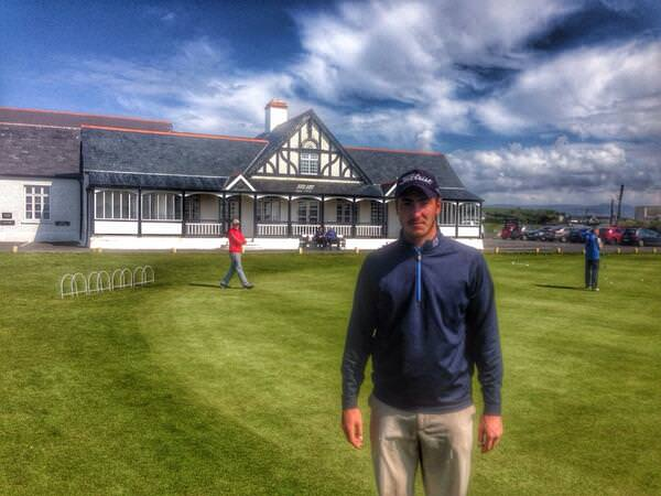 Royal Dublin's Jeff Hopkins after his 66 in the second round of the West. Picture © Brian Keogh