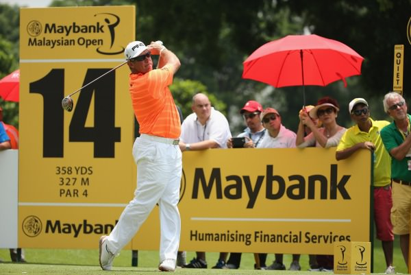 Lee Westwood leads by one with a round to go in Malaysia. Picture © Getty Images
