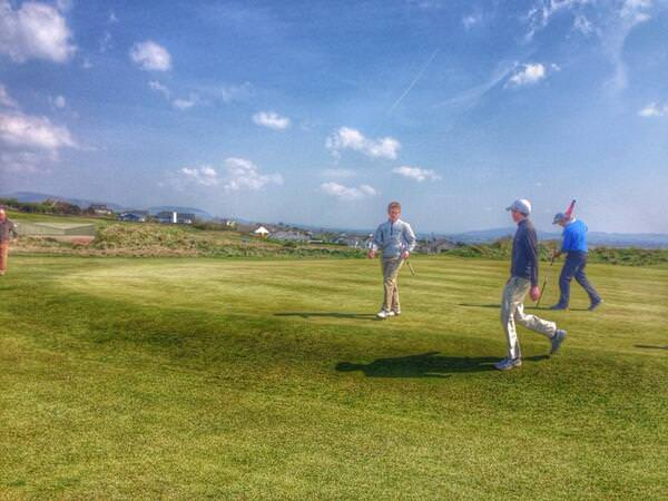 Jack Hume is 3 up against Colm Campbell in their quarter fnali