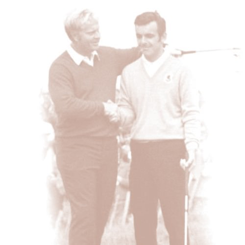 Jack Nicklaus and Tony Jacklin at the 1969 Ryder Cup at Royal Birkdale.
