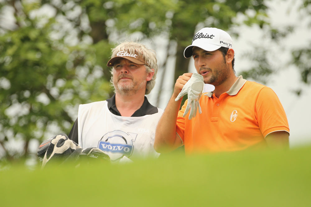 Alexander Levy with his Irish caddie Brian Martin. Picture © Getty Images