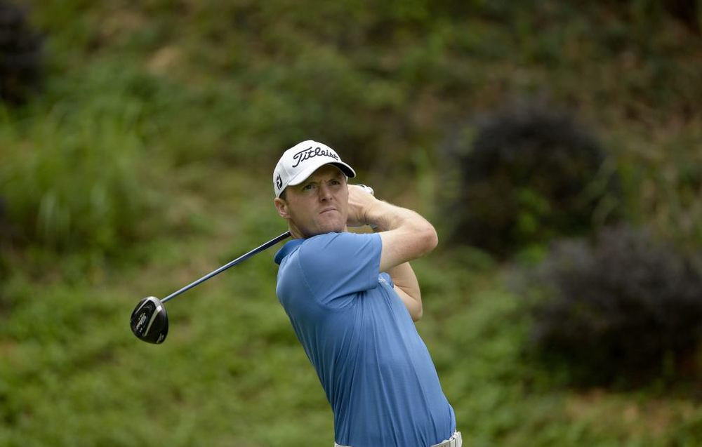 Michael Hoey during the Volvo China Open at Genzon Golf Club. Picture by Paul Lakatos/ OneAsia