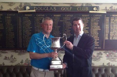 Alan Thomas with the Douglas Senior Scratch Cup
