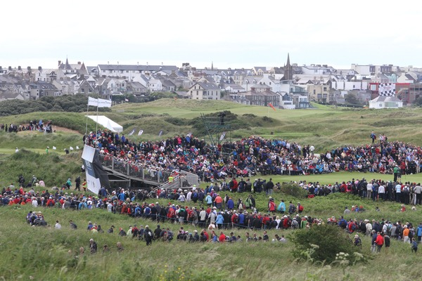 Royal Portrush during the successful 2012 Irish Open. Photo Jenny Matthews/www.golffile.ie