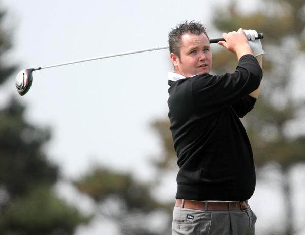 Dundalk's Aaron Grant leads the Munster Strokeplay at halfway. Photo Jenny Matthews  www.golffile.ie