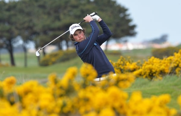 Cormac Sharvin is just four shots off the lead. Picture Pat Cashman  www.cashmanphotography.ie