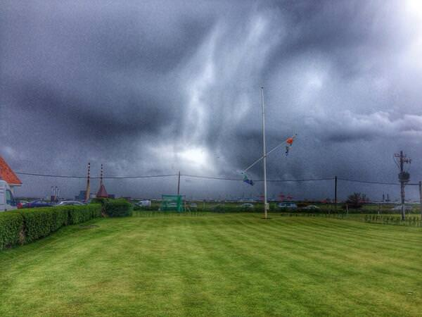 Storm approaching from the south at Royal Dublin
