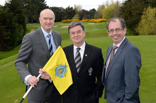 Karl Devenney (Committee Chairman), Brian Nevin (Captain, Castle Golf Club) and Paul Carroll (CPL Resourses / sponsors) at the reception to announce Castle's new sponsorship agreement for the Father and Son Foursomes with Cpl Resources. Picture by Pat Cashman.  cashmanphotography.ie