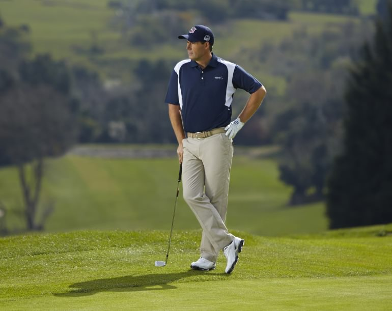 Pádraig Harrington models his new line for Dunnes Stores