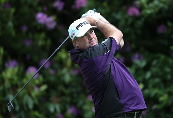 Damian Mooney, pictured in action at Wentworth last week, leads the Newbridge Silver sponsored K Club Pro-Am. Picture: David Lloyd /  www.golffile.ie