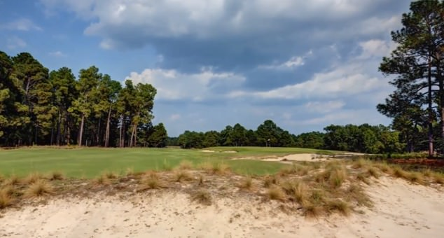 Sand is a constant threat at Pinehurst No 2