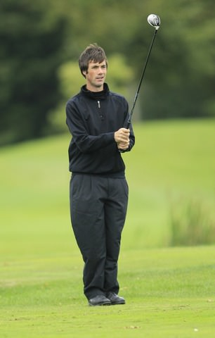 Tim Rice, joint leader at Burhill. Picture: Thos Caffrey / www.golffile.ie
