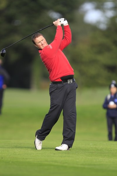 Mick McGeady leads at The Heritage. Picture: Thos Caffrey /  www.golffile.ie