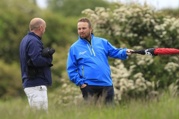 Shane Lowry and his father Brendan are out watching Alan Lowry in the third round of the East of Ireland Championship at Baltray. Picture: Thos Caffrey / www.golffile.ie
