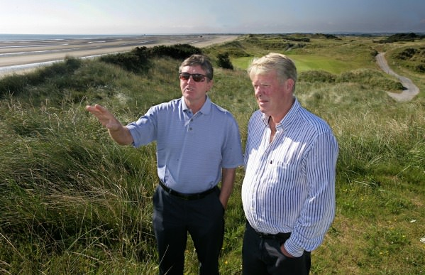 Des Smyth and Declan Branigan at Seapoint. Picture Ronan Lang, courtesy of Seapoint Golf Club