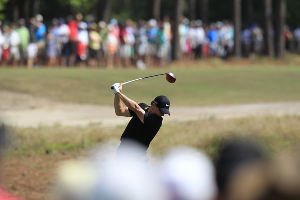 Rory McIlroy during Saturday's third round at Pinehurst No 2. Picture: Eoin Clarke www.golffile.ie