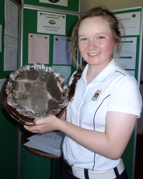 Valerie Clancy (Killarney) winner of the Ita Wallace Trophy (Plate) at the 2014 Irish Ladies Close Championship at Enniscrone. Picture by Pat Cashman  cashmanphotography.ie