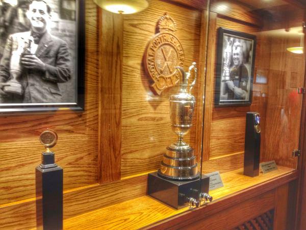 The Claret Jug on display at Royal Portrush Golf Club