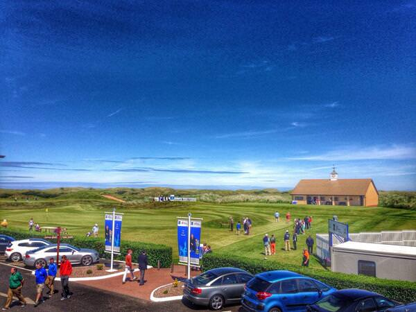 The Amateur Championship was in full swing yesterday.