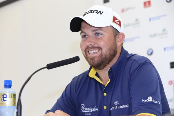 Shane Lowry speaks to the media at Fota Island on Tuesday. Picture:  www.golffile.ie