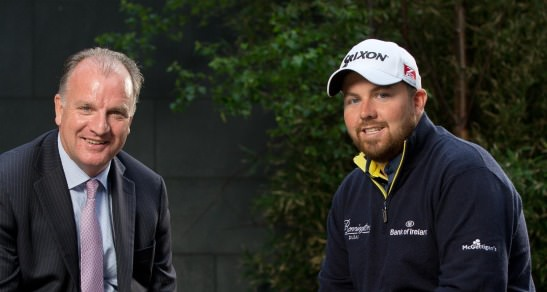 Tom Hayes (Director of Corporate Banking, Bank of Ireland) and Shane Lowry at the new sponsorship announcement. Credit ©INPHO/Morgan Treacy