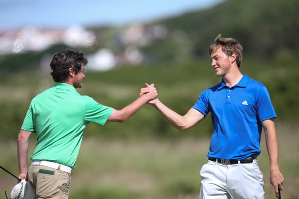 Cormac Sharvin (Ardglass) bowed out to Paul Howard (Southport & Ainsdale) 4&3 in round three of the Amateur Championship at Royal Portrush Golf Club. Picture: David Lloyd /  www.golffile.ie