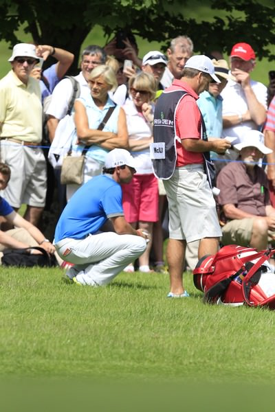 Rory McIlroy on the ninth during the second round of the Irish Open at Fota Island. Picture: Thos Caffrey / www.golffile.ie